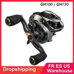 Wysokiej jakości GH100 GH150 7.2: 1 UltraLight kołowrotek wędkarski do rzucania przynęty lewego prawego ręcznie podwójne metalowa szpula przynęta na ryby kołowrotek wędkarski|Kołowrotki|Sport i rozrywka -
