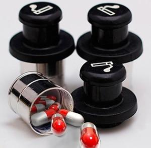 Secret Stash Car Cigarette Lighter Hidden Diversion Insert Pill Box Container Safe Storage Case (Black & Silver)