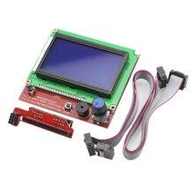 Lcd 12864 placa de controlador display inteligente gráfico com cabo adaptador para rampas impressora 3d 1.4 reprap impressora 3d mendel prusa