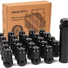 24pcs M12x1.25 Lug Nuts for 2005-2015 Armada/2004-2019 Titan/1995-2004 Pickup Aftermarket Wheel Black Closed End Spline Lug Nuts