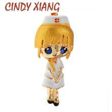 Nurse-Brooches Doctor-Pin Medical-Jewelry Cindy Xiang Coat-Accessories Gift Cute Women