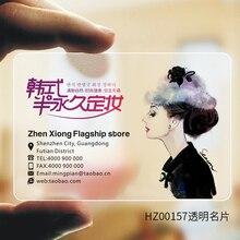 Aangepaste Gedrukt Pvc Transparante Visitekaartjes Naam Frosted 100 Ppieces/Lot