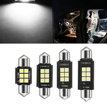 6PCs High Quality C5W Canbus 2835 6 SMD Error Free 6000K Festoon Led 31/36/39/41mm 12V Reading Light Bulbs Lights