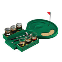 Golf Drinking Game Bar Wine Game Stainless Glasses Indoor Club Golf Table Game Desktop Party Family Leisure Enjoyment Relax