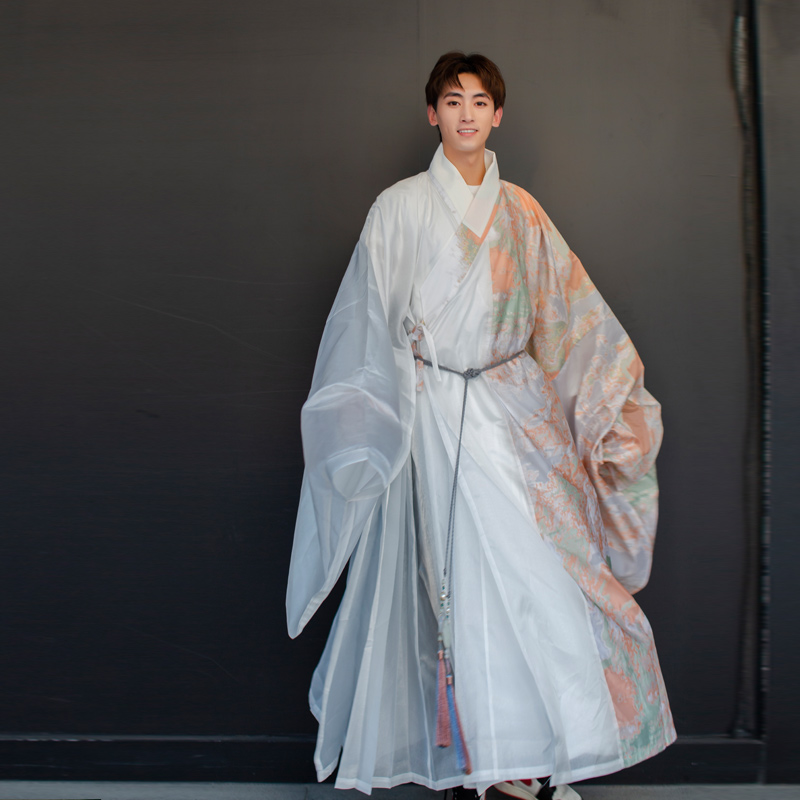 Chinese Clothing Exquisite Print Ancient China Cosplay Costume Chinese Style Men Hanfu Elegant Soft Cosplay Party Uniform Suit