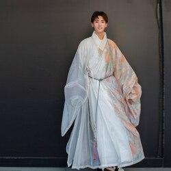 Chinesische Kleidung Exquisite Druck Alte China Cosplay Kostüm Chinesischen Stil Männer Hanfu Elegante Soft Cosplay Uniform Anzug