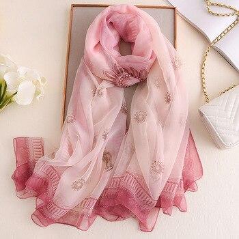 Korean Version Of The New Wild Polyester Chiffon Scarf Pattern Print Silk Shawl Soft Long Scarves Women New Arrival цена 2017
