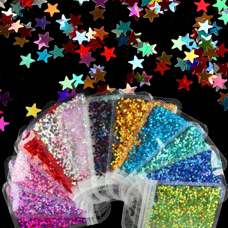 12 Цветов голографический звезда Форма со сверкающими блёстками для смола художественное оформление, эпоксидная смола, форма для наполнени...