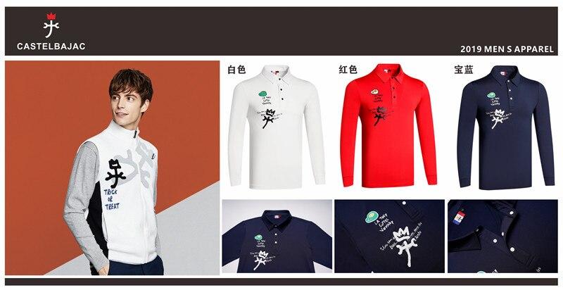 Q2019 hommes T-shirt de Golf à manches longues 3 couleurs vêtements de Golf S-XXL au choix loisirs chemise de Golf livraison gratuite