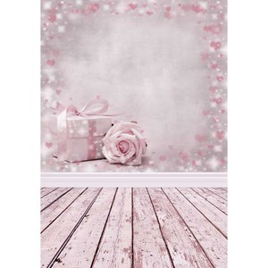 Gifts Flowers Pink Party Background Children Baby Backdrops Photocall Customized 3D Photography for Photo Studio Photophone