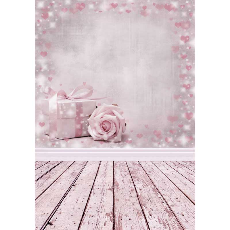 Gifts Flowers Pink Party Background Children Baby Backdrops Photocall Valentines Day 3D Photography for Photo Studio Photophone