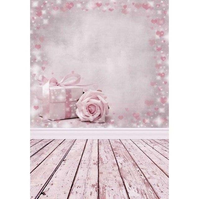 Hediyeler çiçekler pembe parti arka plan çocuk bebek arka planında Photocall sevgililer günü 3D fotoğraf fotoğraf stüdyosu için Photophone