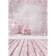 Presentes flores rosa fundo de festa crianças backdrops photocall dia dos namorados 3d fotografia para photo studio photophone