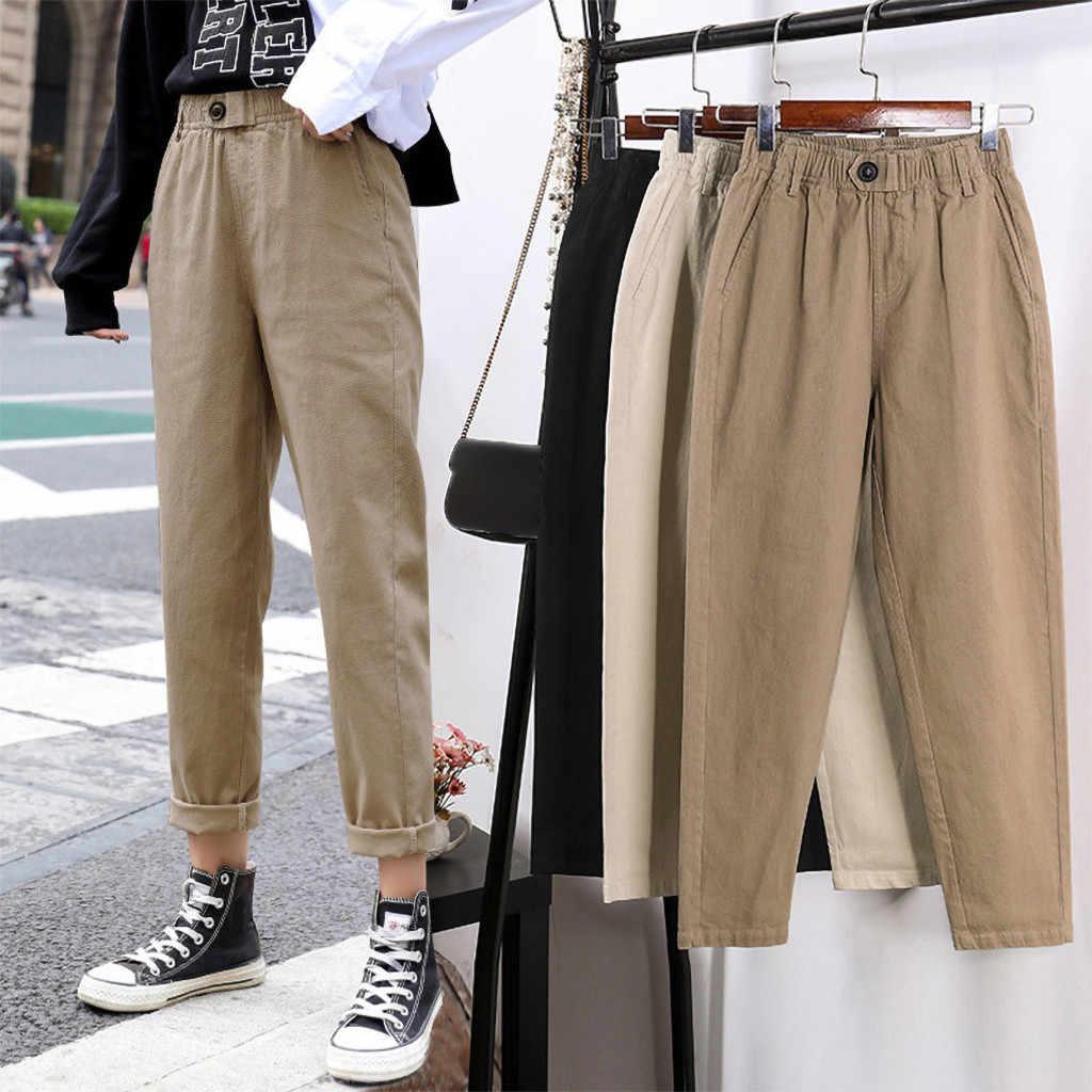 Pantalones De Vestir Para Mujeres De Cintura Alta Casual Pantalon Recto Suelto Oficina Senoras Nueve Pantalones Nuevos Pantalones De Primavera Material Suave P3 Pantalones Y Pantalones Capri Aliexpress