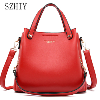 double flower 3d rocket shape acrylic women s fashion pu chain shoulder handbags crossbody bag evening dinner clutch bag Fashion Women Handbags Large Capacity Bag Pu Leather Shoulder Bag With Chain Multi Pocket Designer Crossbody Luxury Brand Red