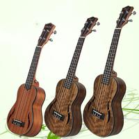 21/23/26inch Walnut Wood Ukulele Guitar 4 Strings Wooden Hawaiian Guitar Musical Acoustic Instrument