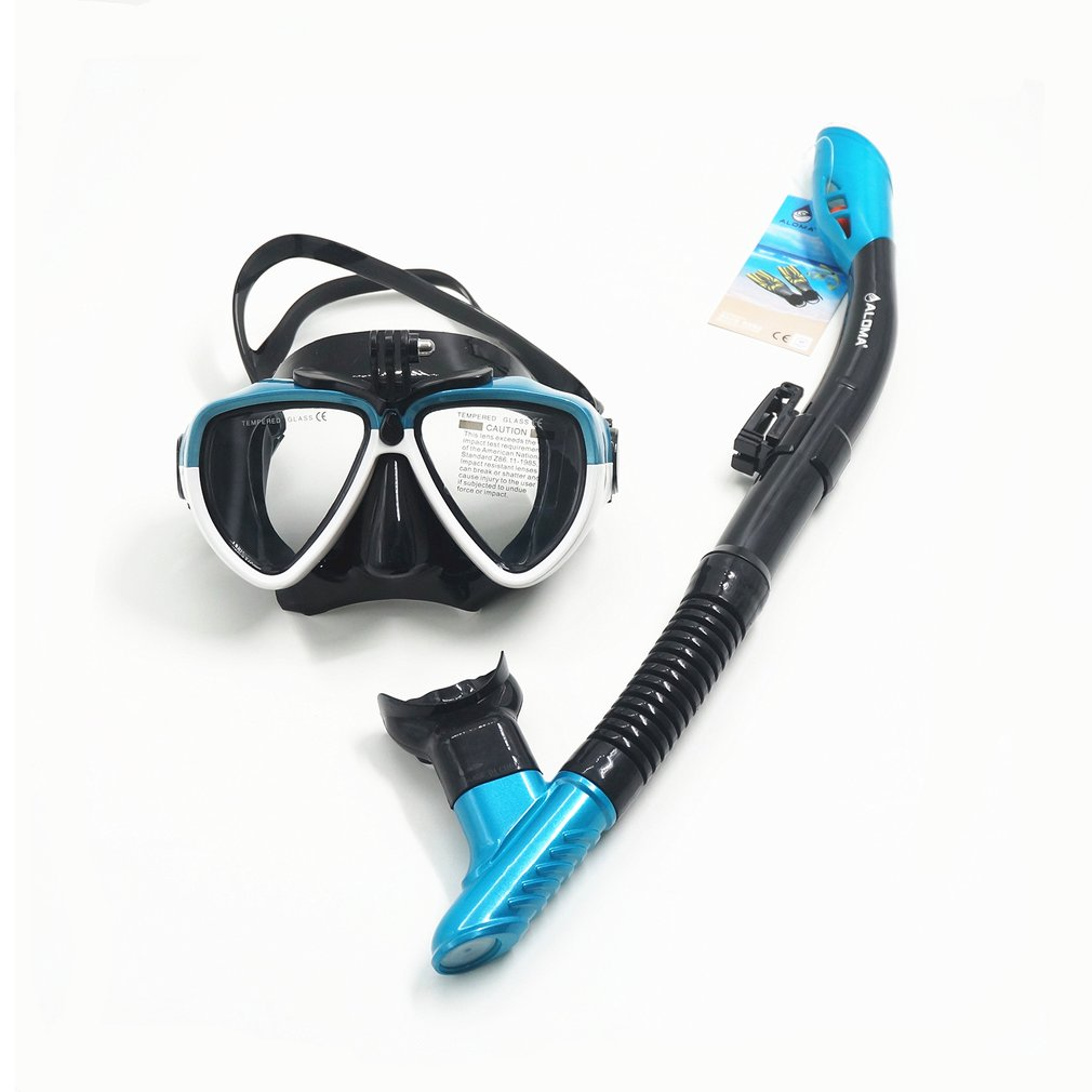 2018 NEW Arrival Silicone Adult Diving Mask Goggles Snorkeling Breather Pipe Survival Rescue AM206GP+408 Drop Shipping