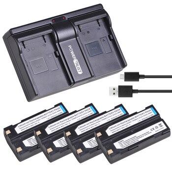 4 шт. 54344 батарея Akku и двойное зарядное устройство для Trimble 54344 батарея Trimble TR-R8 Trimble 5700 5800, MT1000, R7, R8 gps приемник