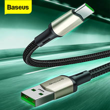 Baseus – câble USB type-c 5A VOOC pour recharge rapide et transfert de données, cordon de chargeur USBC compatible avec Huawei Samsung Oneplus