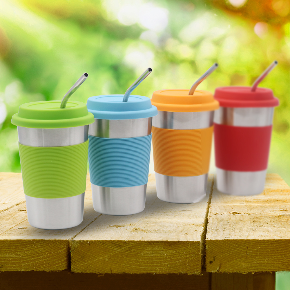 304 stainless steel insulated cup office hot and cold drink cup milk coffee mug beer mug family travel portable water glass