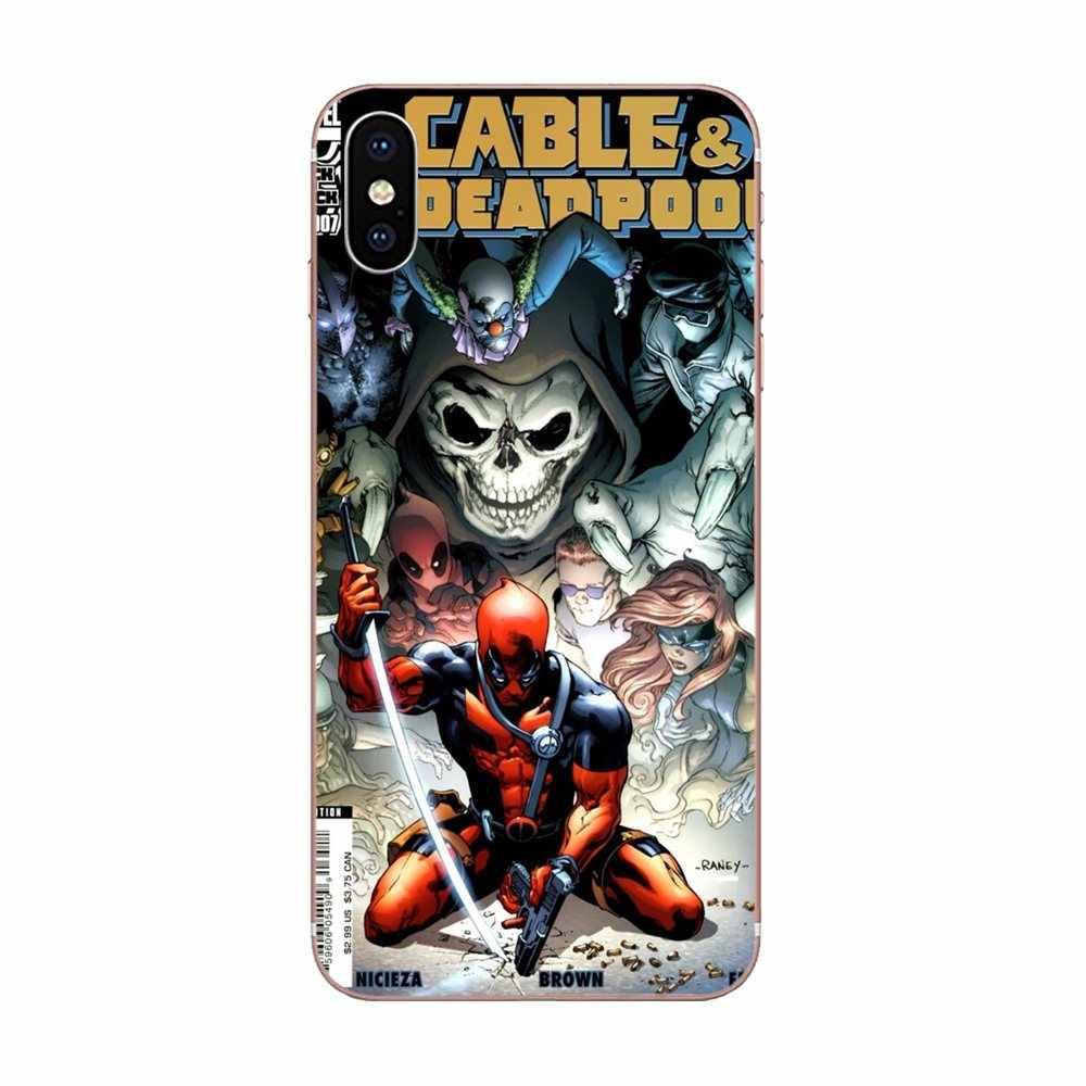 Красный гранж фильма «Дэдпул»; рубашки комиксы с юмором супергероя для Galaxy J1 J2 J3 J330 J4 J5 J6 J7 J730 J8 2015 2016 2017 2018 mini Pro