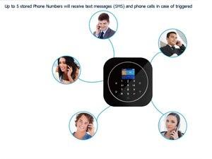 Image 3 - Sgooway fabrika dokunmatik tuş takımı WIFI GSM ev hırsız güvenlik kablosuz Tuya Alarm sistemi hareket dedektörü APP kontrol yangın duman