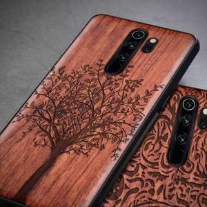 Image 2 - For Xiaomi Redmi note 8 pro Case Slim Wood Back Cover TPU Bumper Case On Xiaomi redmi note 8 Pro Xiomi redmi note 8 Phone Cases
