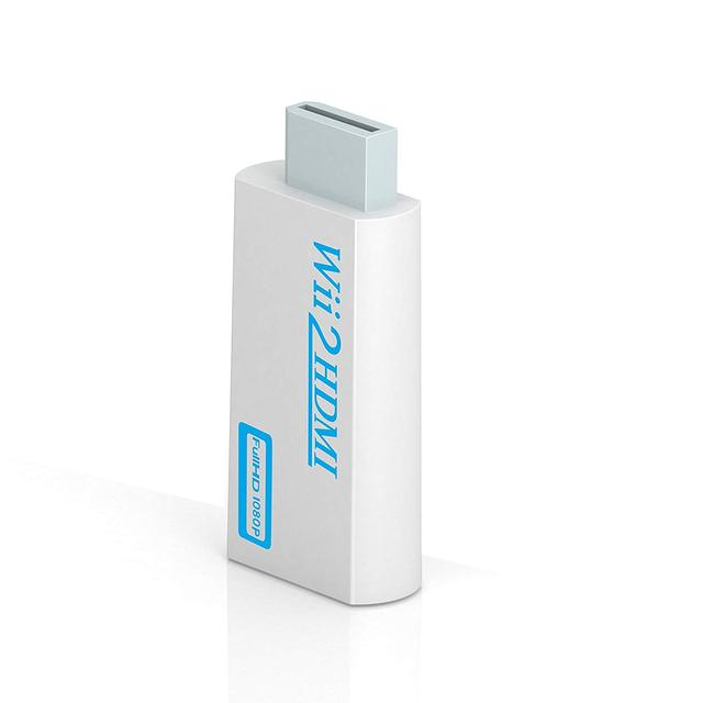 Full HD 1080P Wii to HDMI Converter Adapter Wii2HDMI 3.5mm Audio for PC HDTV Monitor Display
