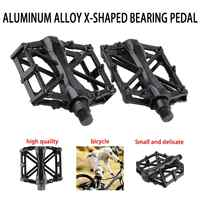 1 Pair Cycling Mountain Aluminum Alloy Flat Platform Bicycle Cycling Riding Pedals Treadle new
