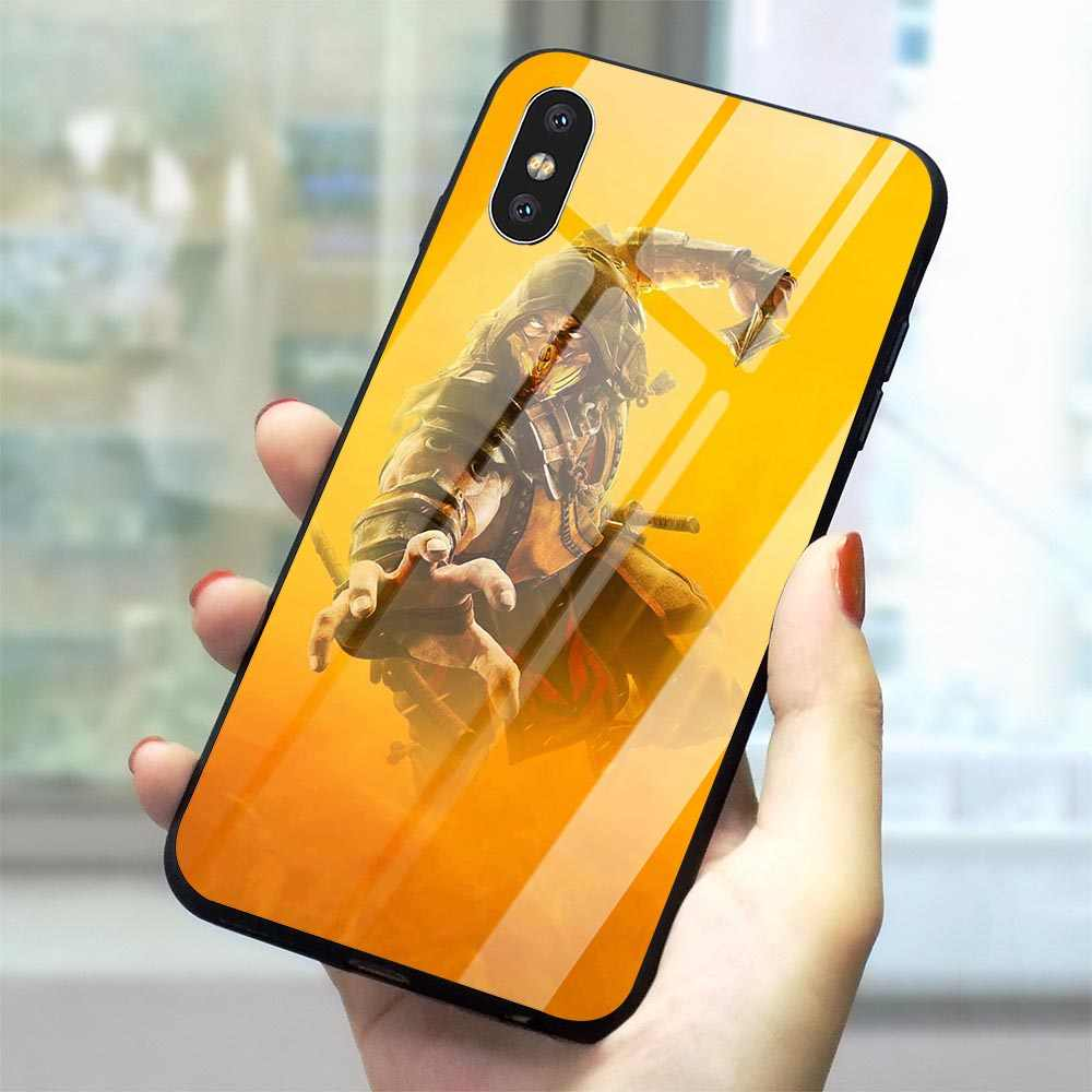 Scorpion In Mortal Kombat Gehard Glas Telefoon Cover Voor iPhone SE Case 5 5S 6 6S 7 8/6 6S 7 8 Plus X XS XR Xs Max
