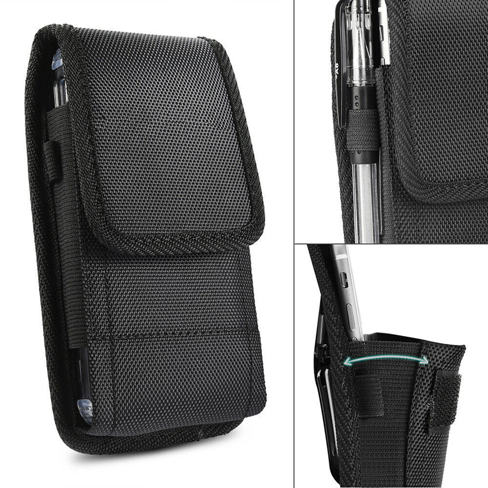 2019 Retro Men Phone Pouch Classic Black Men's Belt Bag Hanging Waist Storage Bag Belt Clip Pouch Case For IPhone Fanny Pack New