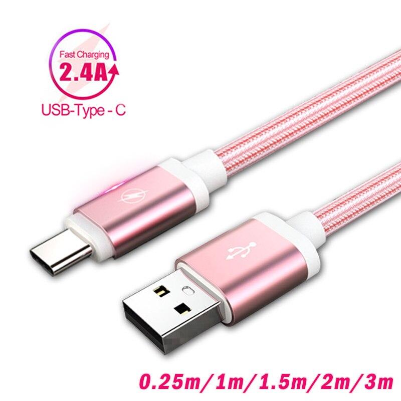 Зарядное устройство type C 1 м 2 м длинное USB зарядное устройство быстрой зарядки провод USB C для huawei P20 Lite samsung Galaxy Note 8 9 A5 A7 2017 S8 A40 S10 зарядное устро...