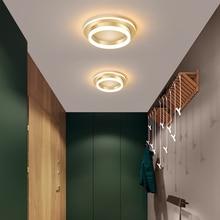 LED נברשת אור מסדרון מסדרון משטח רכוב אקריליק תקרת תאורה אחורית 20W מודרני מנורת Lustres Lampadario AC85 260V