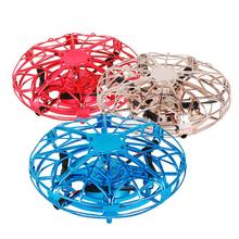 XKJ New Mini Drone UFO RC Quadcopter Infrared Sensor Anti Collision Aircraft Watch Handle Remote Control Helicopter Children Toy