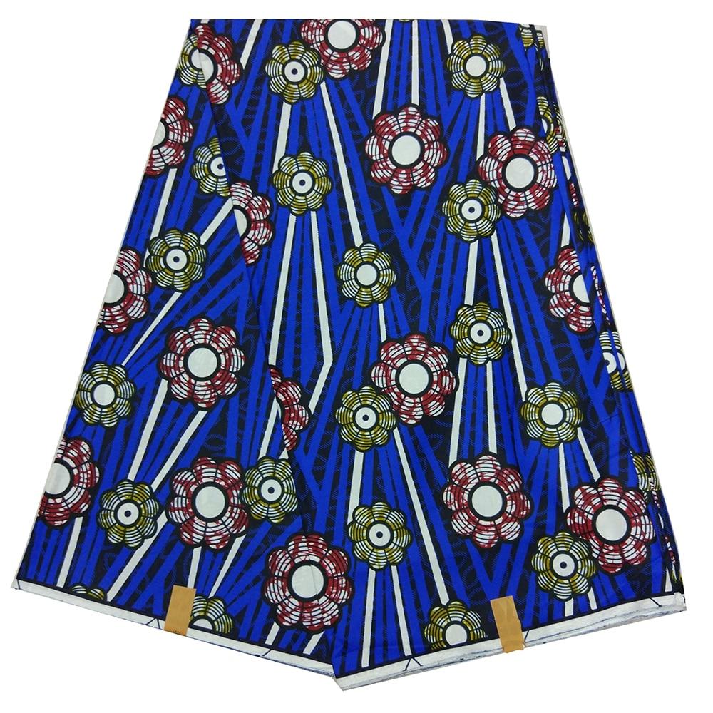 2019 New Design High Quality African Wax 100% Cotton Floral Pattern Print Fabric Ankara Wax Fabric