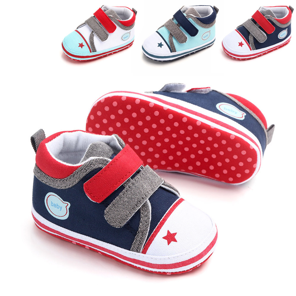 Casual Baby Boy Canvas First Hard Walkers Newborn Baby Girl Shoes 1 Year Toddler For Infant Nonslip Shoes 0-18M Sneaker
