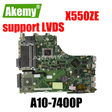 X550ZE Scheda Madre A10-7400 LVDS supporto Per For For For For Asus VM590Z A555Z X555Z scheda madre Del Computer Portatile X550ZE Mainboard X550ZE Scheda Madre