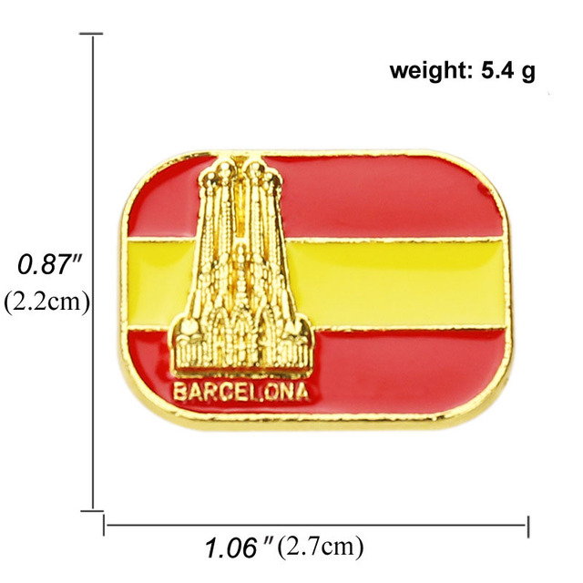 National flags brooch and Enamel Pin Russian spanish Turkey Singapore flag Lapel Pin Hat Bag Clothes Collar Pin Badge Jewelry