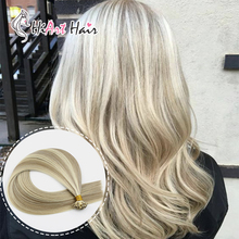 """HiArt 0,8 г/локон, накладные волосы с плоским кончиком, настоящие человеческие волосы remy для салона, двойные накладные прямые волосы с квадратным кончиком, 1"""" 20"""" 22"""""""