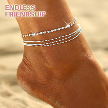 Sexy Crystal Multi-layer Anklet Foot Chain Summer Bracelet Charm Anklets Beach Wedding Jewelry Gift