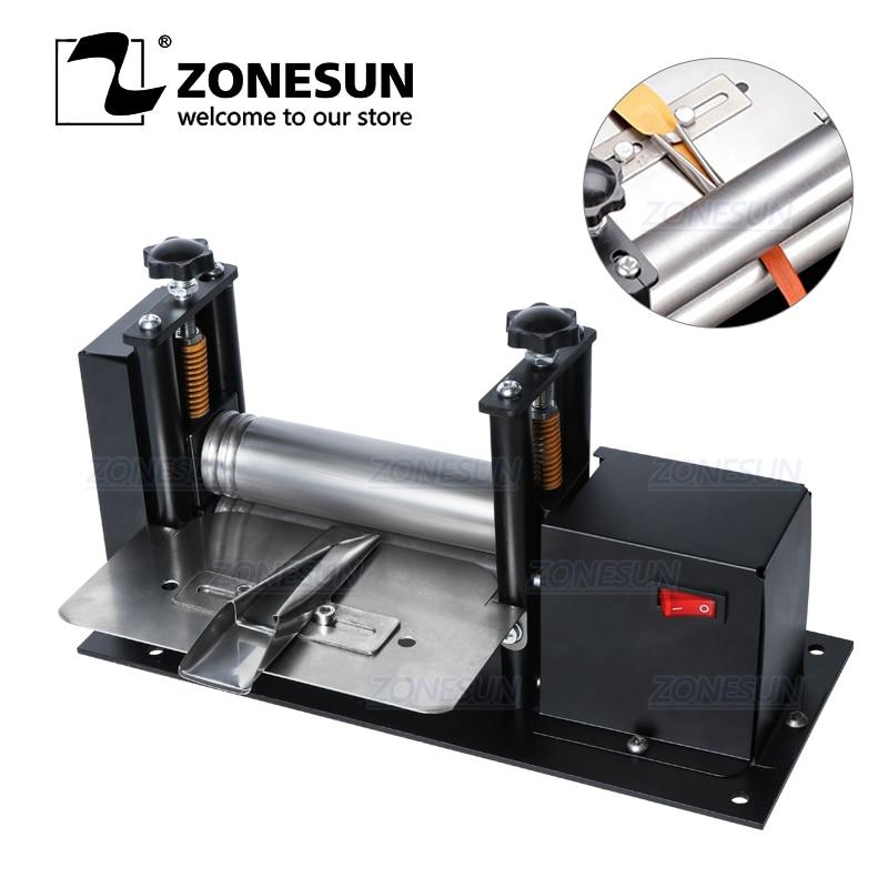 ZONESUN Manual Leather Belt Rolling Machine Shoulder Strap Leather Laminating Folding Machine Edge Sealing Machine-0