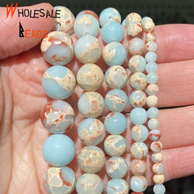 Smooth Shoushan Stone Round Beads For Jewelry Making 4/6/8/10/12mm Spacer Beads Diy Bracelet Accessories 15
