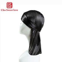 Children Hats Silk Long Tail Pirate Headscarf Hip Hop Cap Bandana Turban Headwear Boys Hip Hop Cloak Hat Hair Accessories