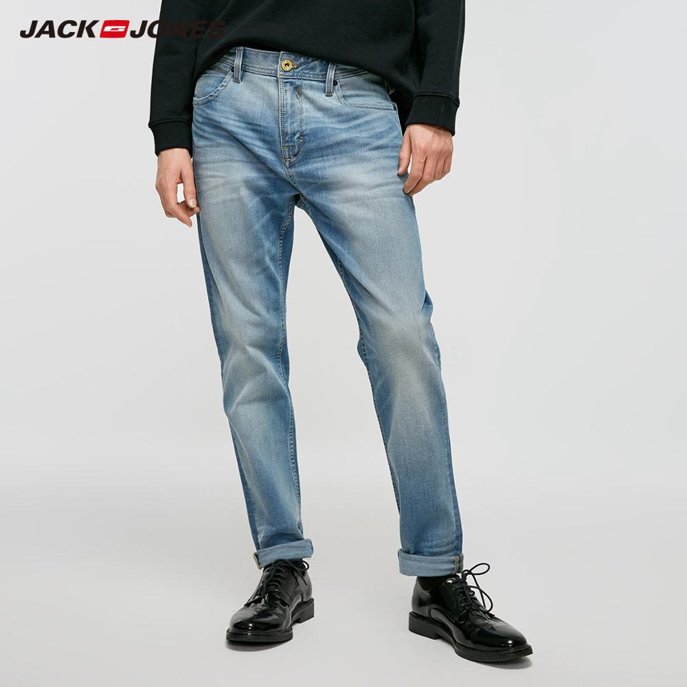 JackJones Men's Autumn&Winter Slim Fit Stretch Tight-leg Jeans Streetwear Menswear| 219132567