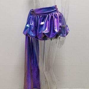 Image 3 - JillPeri Sexy Sparkle Lantaarn Shorts met Lange Drop Fashion Kleurrijke Ultra Korte Nacht Club Wear Celebrity Party Bodems Shorts