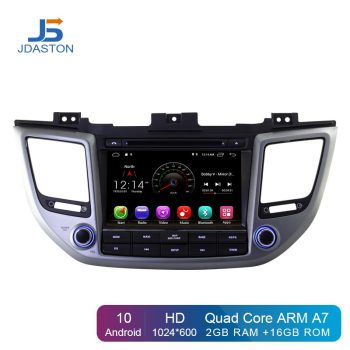 JDASTON Android 10.0 Car DVD Player For Hyundai Tucson/IX35 2015 2016 2017 Multimedia GPS Navigation 2 Din Car Radio Audio WIFI
