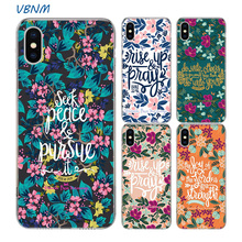 Bible Verse Jesus Christian Silicone Phone Back Case For Apple iPhone 11 Pro 6 6S 7 8 Plus + X 10 Ten XS MAX XR 5 5S SE Cover babaite bible verse philippians jesus novelty fundas phone case cover for apple iphone 8 7 6 6s plus x xs max 5 5s se xr cover