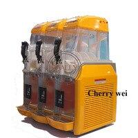 36l capacidade comercial 3 tanque bebida congelada slush slushy que faz a máquina smoothie maker