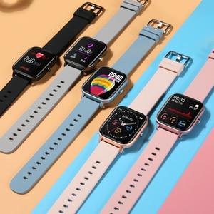 Image 3 - IP67 P8 Smart Watch Wristband Men Women Sport Clock Heart Rate Monitor Sleep Monitor Smartwatch tracker for phone Color Screen