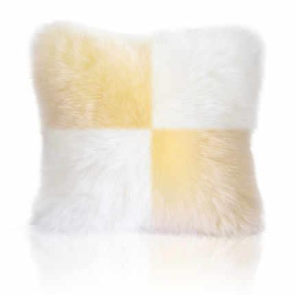 フェイクファークッション家の装飾、オフィス、 TArtificial ウールソファ腰椎枕ホーム装飾枕カーシート送料無料